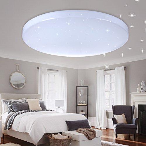 Vgo® Led techo redonda techo lámpara Starlight efecto Beau salón lámpara [clase energética A + +] (16W Blanco Frío)