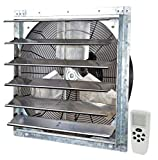Iliving ILG8SF24VC Wall-Mounted Shutter Exhaust Fan, 24' - Variable, Silver