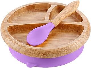 CampHiking Bol daspiration b/éb/é cuill/ère Bol dalimentation mis en r/écipients de Nourriture Bols de Fruits avec Tasse en Silicone