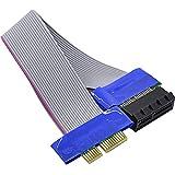 オーディオファン PCI-Express x1用 ライザーカード 延長ケーブル PCIe 延長 フレックスケーブル 約24cm