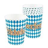 Boland- Set Bicchieri Oktoberfest Festa della Birra, Azzurro/Bianco, 54258...