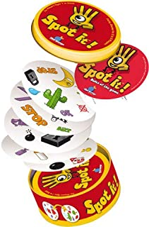 Asmodee Truly Amazing Spot It Card Game, For 2 to 8 Players Family & Friendly Party Games Card Game For Kids - A Dobble Game