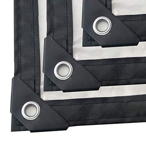 Transparent Plane utomhus tjock PE polyetylen vindtät köldskydd isolering plastduk – 120 g/tum, 3 x 6 m