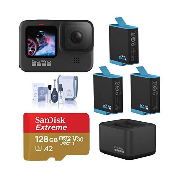 GoPro HERO9 Black, Waterproof Sport and Action Camera, 5K/4K Video, Power Bundle...