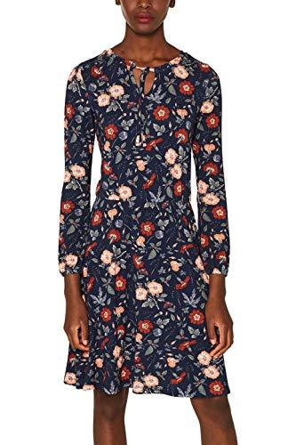 edc by ESPRIT Damen 089Cc1E016 Kleid, Blau (Navy 400), X-Small (Herstellergröße: XS)