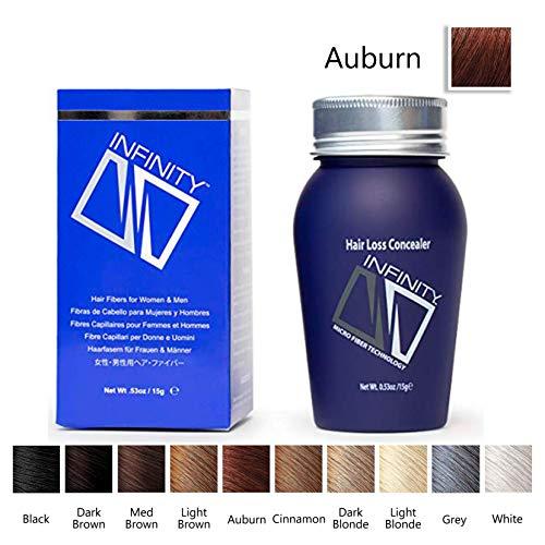 Infinity Hair Fiber - Hair Loss Concealer - Hair Thickening Fiber for Men & Women – Auburn 15g