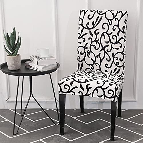 1/2/4/6 Uds Fundas elásticas para sillas elásticas Impresas Cocina Comedor Funda de Asiento para Silla decoración del hogar A17 1 ud.
