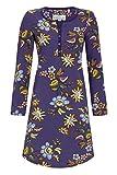 Ringella Bloomy Damen Nachthemd mit Knopfleiste Fjord 44 0551003, Fjord, 44