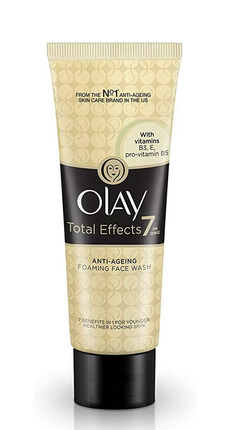 道路氏練習したOLAY Total Effects 7in ONE ANTI-AGEING FOAMING FACE WASH 【VITAMINS B3 E B5】 100g [並行輸入品]