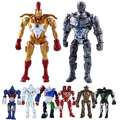 """Real Steel 8pcs/Set Toys 5"""" PVC Action Figure Atom Midas Ambush Metro Noisey Iron Boy Zeus Collectible Robots Toys, Ideal Gift"""