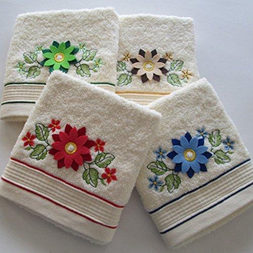 Bgeurope brodée en tissu éponge de cuisine torchons – Plat chiffons – Ref. Tournesol