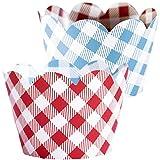 Red Checkered Cupcake...image