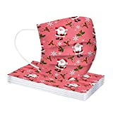 G1OO 10 Stücke Mundschutz Weihnachten Kinder Einweg 3-lagig Bunt Mund-Nasen-Schutz Tücher Weihnachtsmotiv Motiv Maske Tücher Mund-Tuch Bandana Halstuch Schals Atmungsaktiv