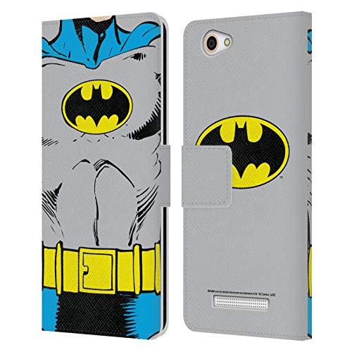 Head Hülle Designs Offizielle Batman DC Comics Klassische Kostueme Logos Leder Brieftaschen Huelle kompatibel mit Wileyfox Spark X