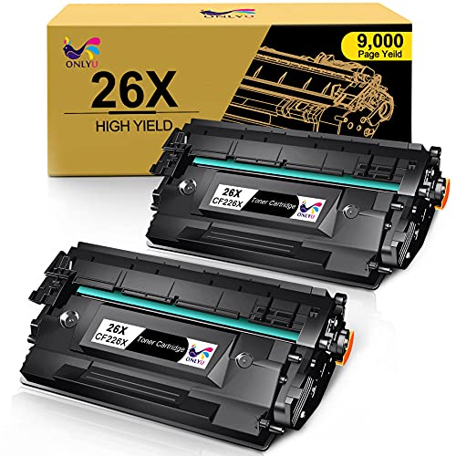 ONLYU Compatible Toner Cartridge Replacement for HP 26X CF226X 26A CF226A Laserjet Pro M402n M402dn M402dne M402dw Laserjet Pro MFP M426fdw M426fdn M426dw (Black, 2-Pack)