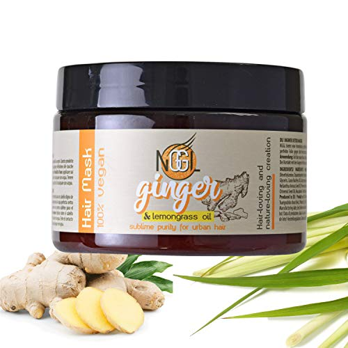 NGGL Vegan Detoxifying and purifying Premium Hair Spa with 100% natural Lemon oil and Ginger extract; Hair and scalp mask 350ml