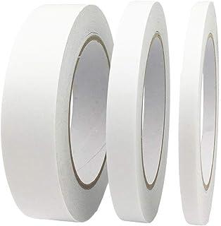 WeFine Lot de 3 rouleaux de ruban adhésif double face pour cadeaux, photos, documents, papier peint, scrapbooking, travaux...