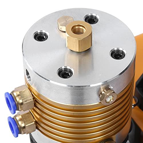 Bomba de aire, conjunto eléctrico integrado, compresor de aire con salpicaduras de aceite, compresor de aire, inflador de neumáticos, para coche y bicicleta(220 v UE, Rosa)