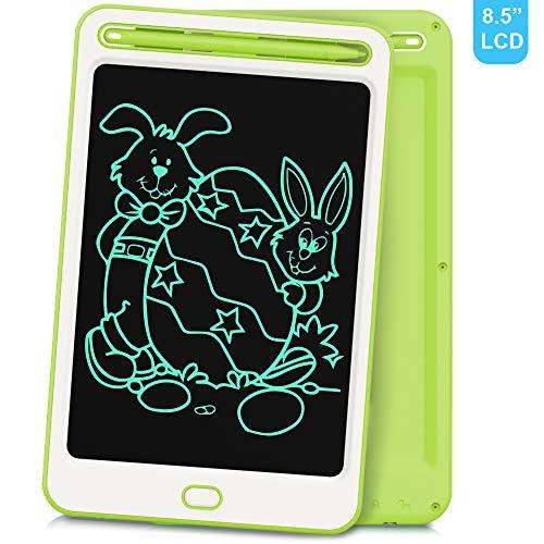 Richgv 8.5 Zoll LCD Schreibtafel, LCD Writing Tablet Kinder Schreibplatte Digital Schreibtafel Grafiktablet Tabletten Geschenke Spielzeug für Zeichnen/Schreiben (Grün-A)