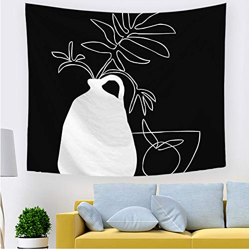 Abstract line tapestry line art sofa chair cover tablecloth wall hanging blanket black and white living room home decoration