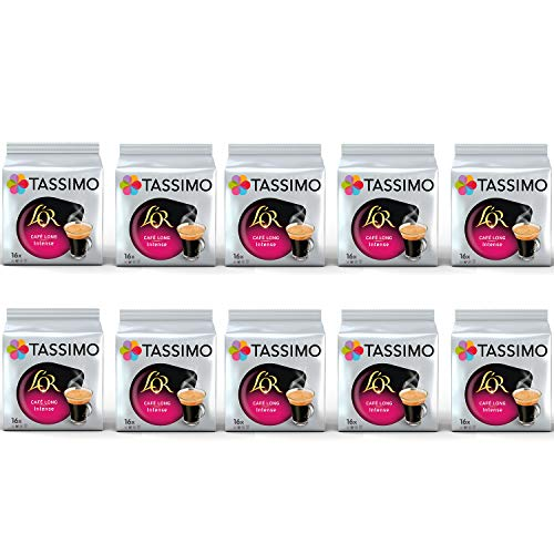 TASSIMO L'OR Cafe Cápsulas de café largas e intensas - 10 paquetes (160 bebidas)