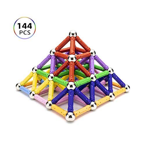 Magnetische Bausteine Regenbogen Set 144 stück ähnlichen gebäude kit kreativ und Pädagogische Spielzeug Magnetisch Sticks für sechs jahre Kinder