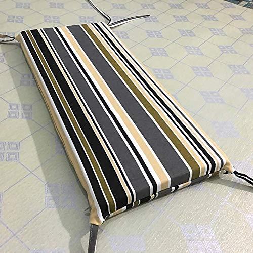 JY&WIN Canvas Striped Chair Cushion, Sponge Rectangular Sofa Cushion, Student Long Dining Chair Cushion for Indoor Garden Outdoor Patio B 30x60x3cm
