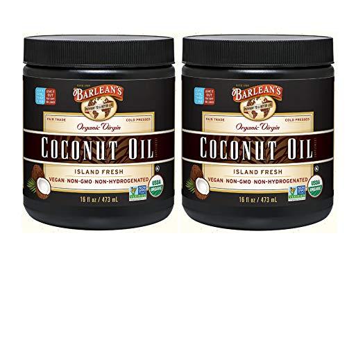 Barlean's Organic Virgin Coconut Oil, 16-Ounce Jar (Pack of 2)