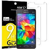 NEW'C PanzerglasFolie Schutzfolie für Samsung Galaxy Grand Prime, [2 Stück] Frei von Kratzern Fingabdrücken & Öl, 9H Festigkeit, HD Bildschirmschutzfolie, BildschirmschutzfolieSamsung Grand Prime