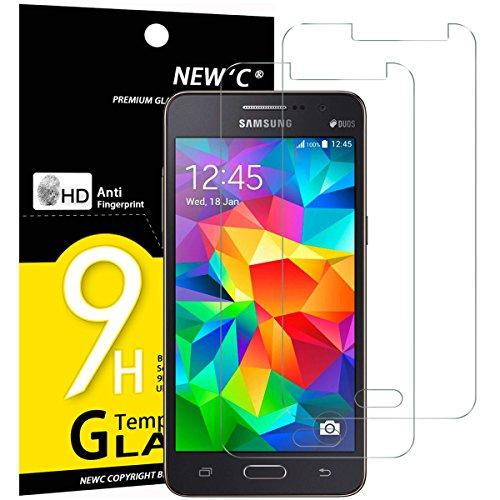 NEW'C PanzerglasFolie Schutzfolie für Samsung Galaxy Grand Prime, [2 Stück] Frei von Kratzern Fingabdrücken und Öl, 9H Härte, HD Displayschutzfolie, DisplayschutzfolieSamsung Grand Prime