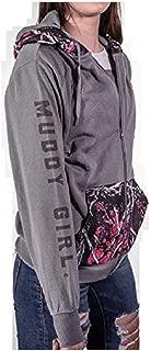 Muddy Girl Camo Pocket Hoodie Pull Over Jacket Coat Pink Purple