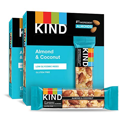 KIND Bars Almond and Coconut Gluten Free 14 Ounce 24 Count