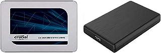 Crucial SSD 500GB MX500 内蔵2.5インチ 7mm (9.5mmスペーサー付属) 5年保証 【PlayStation4 動作確認済】 正規代理店保証品 CT500MX500SSD1/JP + 玄人志向 2.5型HDDケース...