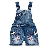 Yao Summer Little Girls - Babero de algodón para niña - Azul - 8 años