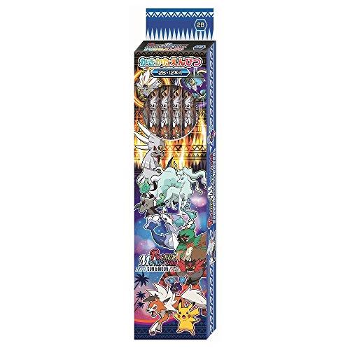 ショウワノート ポケモン かきかた鉛筆 2B サン&ムーン 銀軸 1ダース 418728004