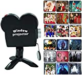 Halloween Christmas Window Projector, Portable Holographic Projection with Tripod, 12 Movies Christmas Halloween Window Projector for Indoor Outdoor Windows Wall Holiday Decoration (1pc)