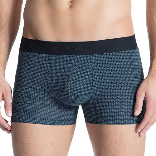 CALIDA Herren Grafic Cotton Boxershorts, Blau (Bluestone 408), Small (Herstellergröße: S)