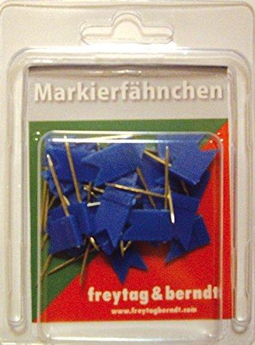 Pin Fähnchen blau: 30 Stk. Packung, 32 mm Stecklänge (freytag & berndt Bücher + Specials)