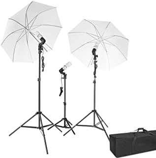 Photography Lighting, ESDDI Umbrella Continuous Lights Kit 600W 5500K Portable Day Light Photo Portrait Studio Video Equipment