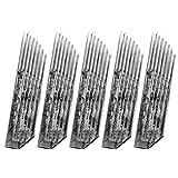 SUPVOX Aghi Microblading 100 pezzi 15 pennelli trucco permanente sopracciglia tatuaggio Aghi lame