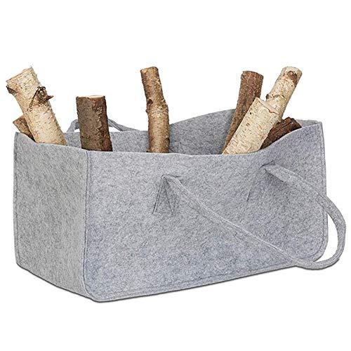 ZDYLM-Y Kaminholz-Tragetasche, Filz Kamin Holzhalter Aufbewahrungstasche mit Griffen, für Camping, Depot und Zuhause