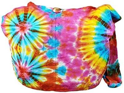 BenThai Products BTP! Tie Dye Sling Crossbody Shoulder Bag Purse Cotton Bohemian - Firework VY5