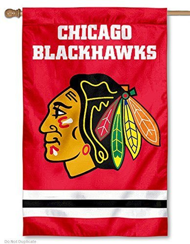 Party Animal Chicago Blackhawks Weather Resistant Embroidered Banner Flag by Party Animal