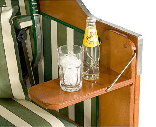 Sunny Smart Seitentisch für Strandkorb Rustikal 150 Z Teak, klappbar