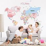 Wallpark Temprano Educación Dibujos animados Alfabeto Inglés Mapa del mundo...