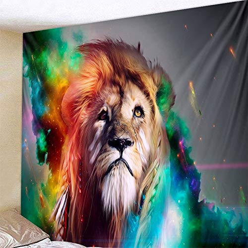KHKJ Creativo Cebra león Tapiz Colgante de Pared Animal Tribal sábana Lobo Tigre Caballo Tapiz decoración del hogar Tapiz A2 200x150cm