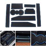 8X-SPEED para Evoque 2012-2018 (8 Piezas) Almohadilla de La Ranura de Puerta Cup Alfombrillas Interior Alfombrillas Antideslizantes Interior Puerta Seguridad Pad Azul