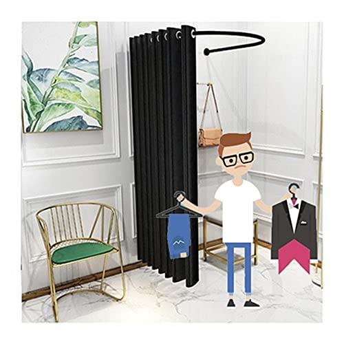 SHIJINHAO Vestuario Portátil, Protección De La Privacidad En El Probador De La Tienda De Ropa, Bloquear Usado para Oficina, Gran Centro Comercial (Color : Black, Size : 85x80x200cm)