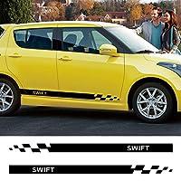 車のドア側の装飾ストライプスカートデカールラップボディステッカーグラフィック、スズキスイフト用