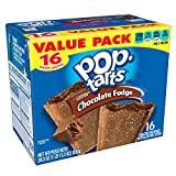 Kellogg's Pop-Tarts Frosted Chocolate Fudge Toaster Pastries - Fun Breakfast for Kids, Value Pack (16 Count)